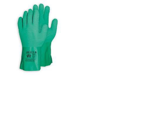gant de protection chimique caoutchouc