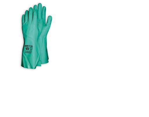gant de protection chimique nitrile vert